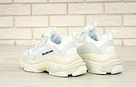 Кроссовки мужские женские Balenciaga Triple S White II