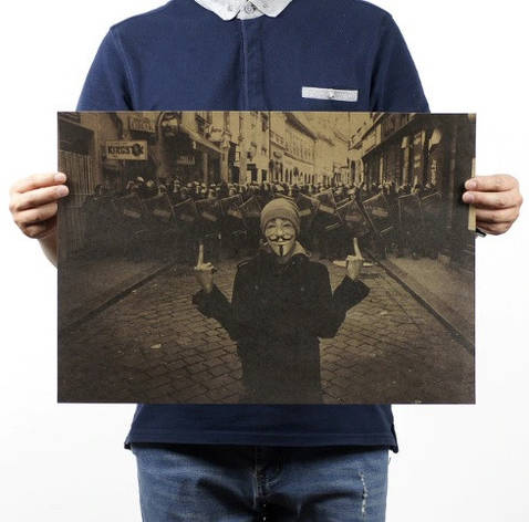 "Постер ""Вендетта"" ретро. Плакат на стену, сделанный под старину, фото 2"