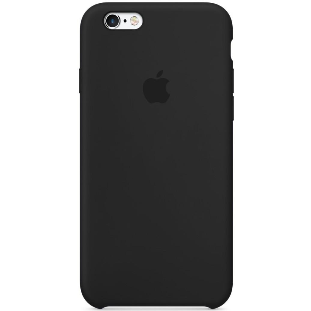 ЧехолселиконовыйдляiPhone6 SiliconeCase цветчерный / накладка для Apple iphone 6S Black / оригинальный чехол на айфон 6 6S / PREMIUM!!!