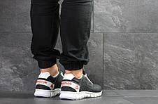 Мужские кроссовки Reebok Sublite,кожаные,темно синие, фото 3