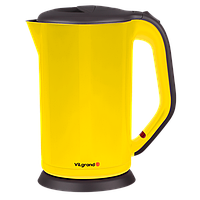 Чайник электрический НЕРЖАВЕЙКА, цельная КОЛБА (1.8 л; 2 КВТ) VILGRAND VS303