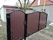 Ворота, калитки из профнстила, фото 2