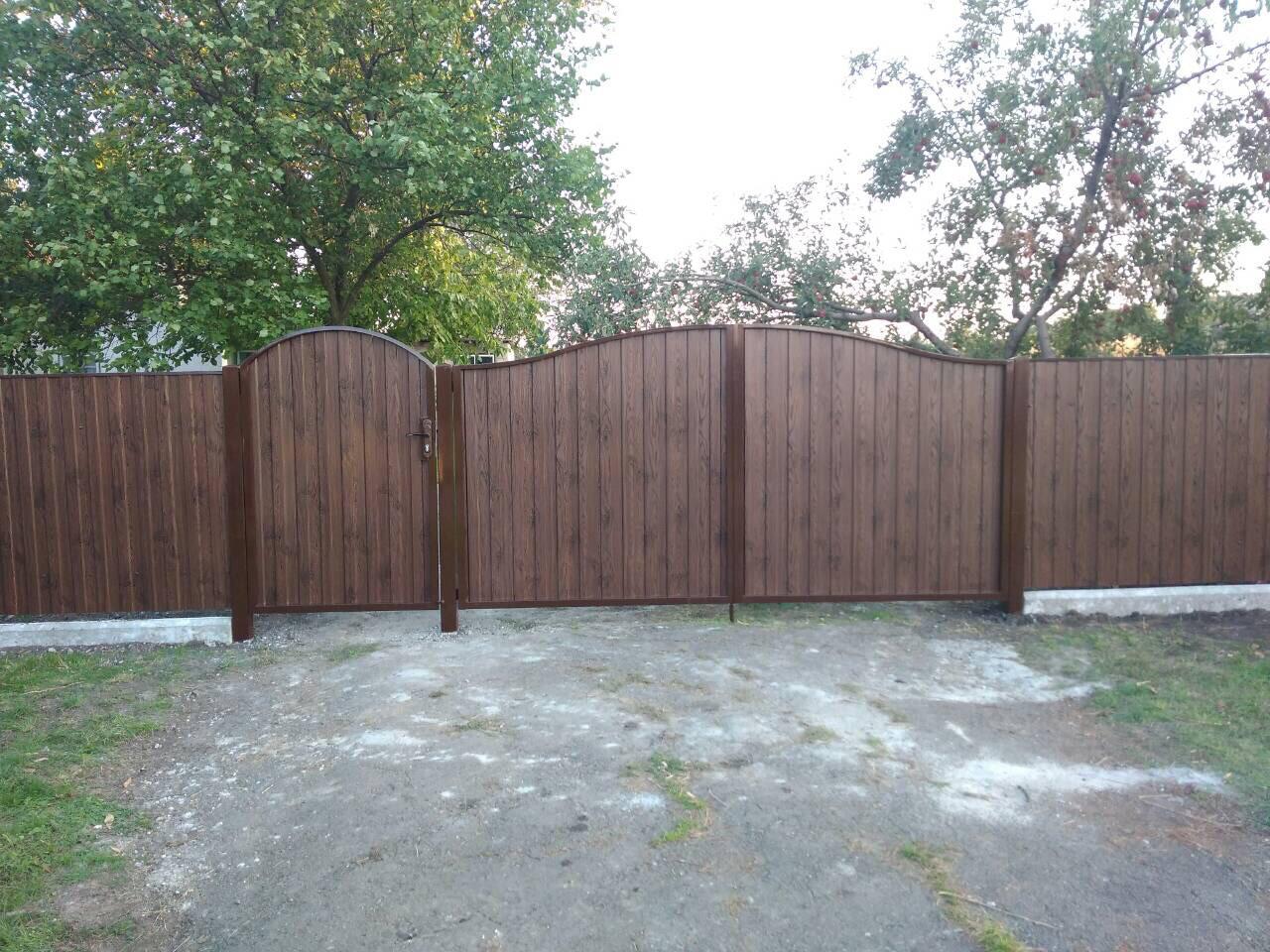 Ворота, калитки из профнстила