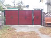 Ворота, калитки из профнстила, фото 3