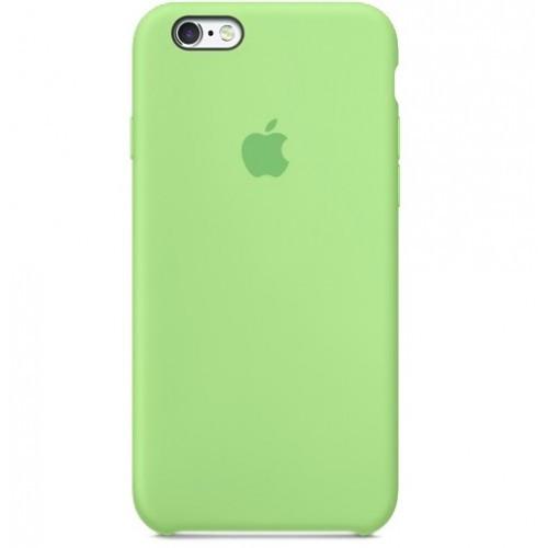 ЧехолселиконовыйдляiPhone7 SiliconeCase цвет зеленый лайм / накладка для Apple iphone 8 lime green / оригинальный чехол на айфон 7 / 8 /