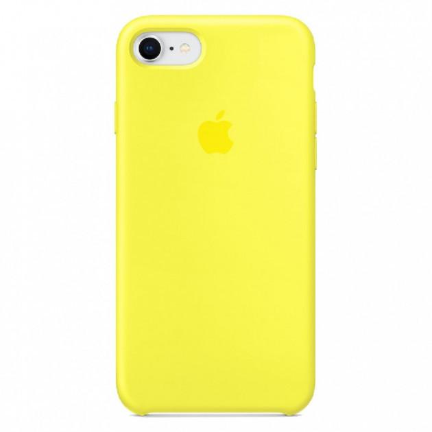ЧехолселиконовыйдляiPhone7 SiliconeCase цвет желтый / накладка для Apple iphone 8 new yellow / оригинальный чехол на айфон 7 / 8 / PREMIUM!!!