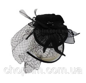 """Вуалетка на обруче """"Ночной цветок"""" (черная), фото 2"""
