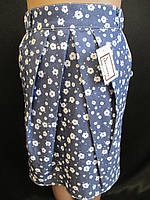 Детские юбочки из джинсовой ткани.