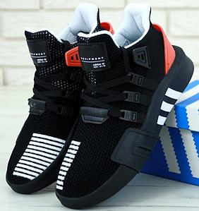 Мужские кроссовки Adidas EQT Equipment Support ADV Black Red, Адидас ЕКТ