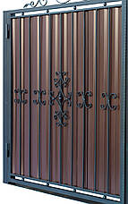 Кованные ворота и калитка В-01, фото 3