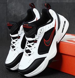 Мужские кроссовки Nike Air Monarch IV White/Black (Найк Аир Монарх 4)