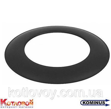 Декоративное кольцо (розетта) для дымохода из чёрной стали Kominus KB-ZR, фото 2