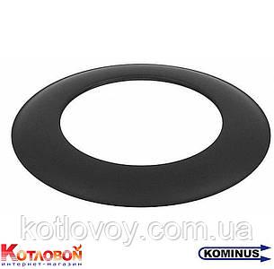 Декоративное кольцо (розетта) для дымохода из чёрной стали Kominus KB-ZR
