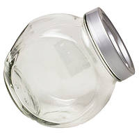 """Банка стеклянная 1730 мл """"Sweet"""" Everglass для хранения сыпучих и круп с серой крышкой"""