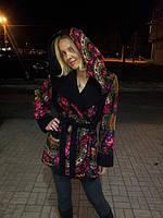 Пальто двустороннее кашемир-платок