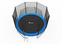 Батуты 374 см FunFit для двора с сеткой и лесенкой, фото 2