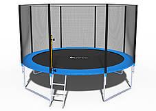 Батути 374 см FunFit(Польща) для двору з сіткою і драбинкою, фото 3