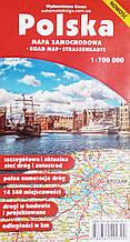 POLSKA MAPA SAMOCHODOWA • ROAD MAP • STRASSENKARTE 1: 700 000 (1см=7км)