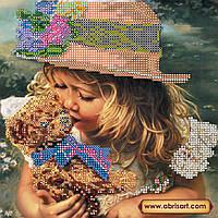 """Схема для вышивки бисером на натуральном холсте """"Любимая игрушка"""" AC-406"""