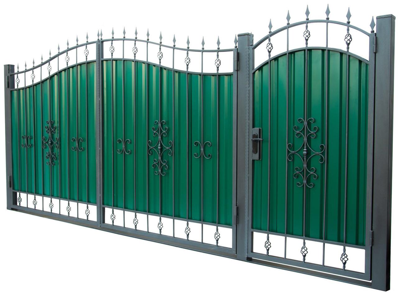 Кованые ворота и калитка ВД-01