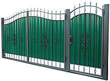 Кованые ворота и калитка ВД-01, фото 2
