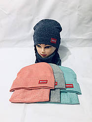 "Детская шапка +хомут  52-54 на девочку  ""Makko""  6475-75"