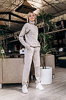 Вязаный  спортивный женский костюм премиум класса « Ключик «