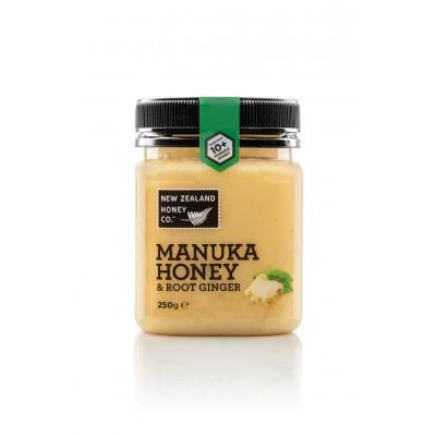 Мед Манука New Zealand Honey Co. 10+ с имбирем (250г)