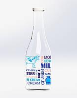 """Бутылка стеклянная 1 л декорированная Everglass """"Грааль"""" Молоко с крышкой Twist-off"""