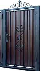 Кованые ворота и калитка модель В-02, фото 3