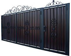 Кованые ворота и калитка модель В-02