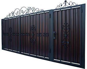 Кованые ворота и калитка модель В-02, фото 2