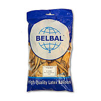 """Воздушные шары Belbal металлик 12""""(30 см) золото 50 шт, фото 1"""