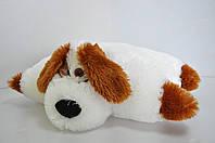 "Мягкая игрушка-подушка. Собака ""Дружок "" 37 х 50 молочный"