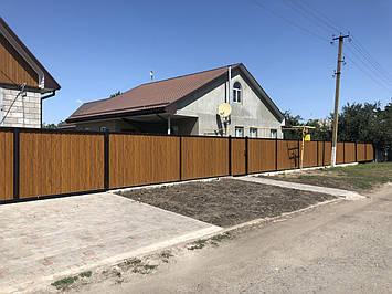 Заборы из профнастила. Изготовление и установка в Криничанском районе, фото 2