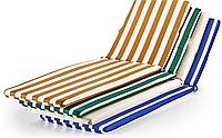 Матрас для шезлонга-лежака 180*60*3 см, Украина, полоска зеленый
