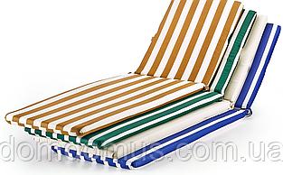 Матрац для шезлонга-лежака 180*60*3 см, Україна, смужка зелений