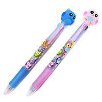 Ручка шариковая с насадкой 3-х цветная Сова 8063-О