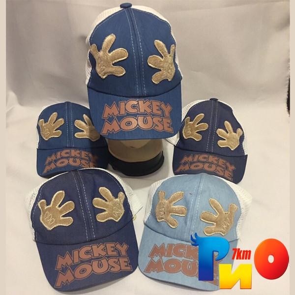 Детская летняя кепка Mickey Mouse с рисунком, для мальчиков (р-р 50-52), (5 ед.в уп.)