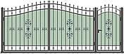 Кованные ворота и калитка модель ВД-02, фото 2