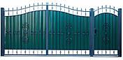 Кованные ворота и калитка модель ВД-02, фото 3