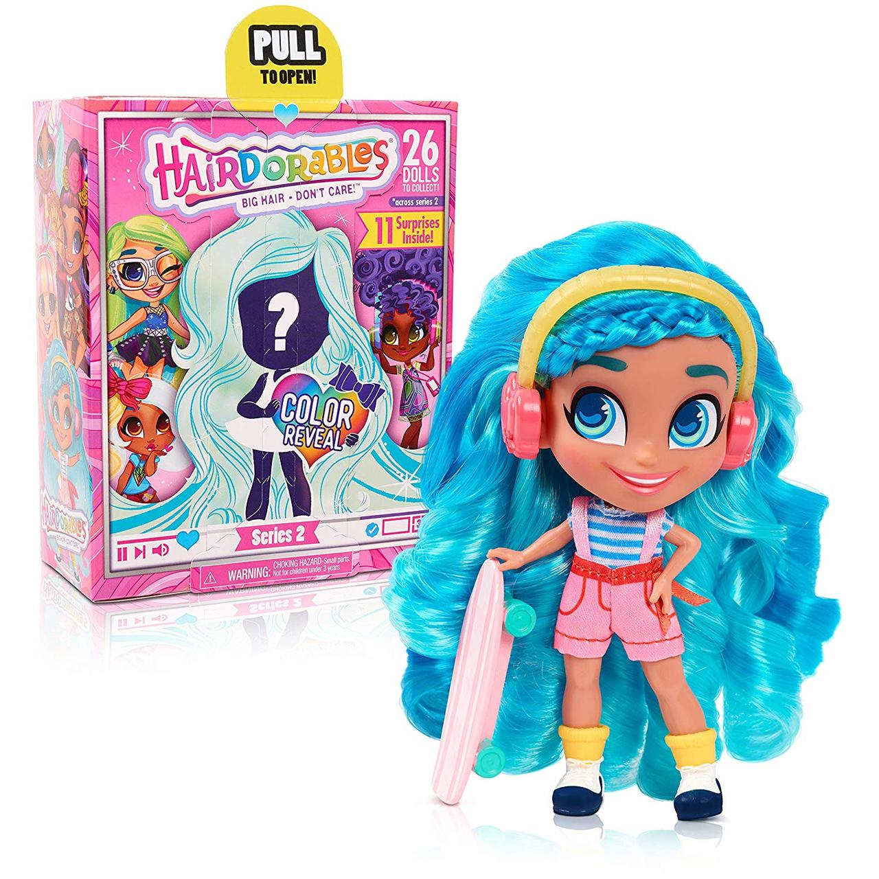 НОВИНКА 2019 год Кукла роскошные волосы, хеадораблс СЕРИЯ 2, Сюрприз, Hairdorables, Just Play из США