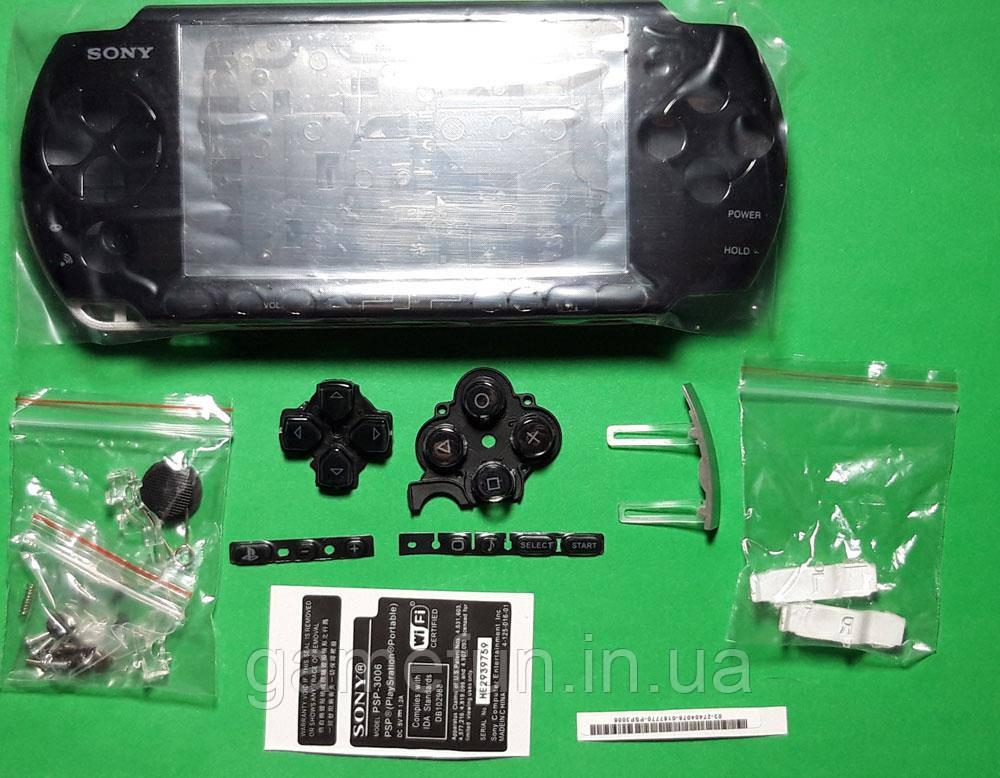 Корпус для Sony PSP 3000 + кнопки (Чорний)