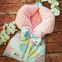 Конверт с плюшем на молнии для новорожденных осень-зима-весна