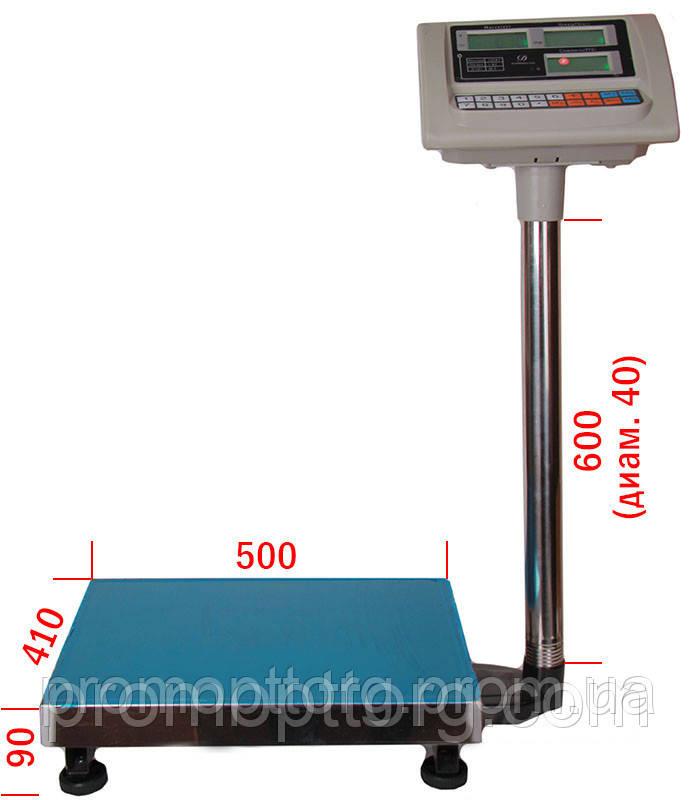 Весы торговые электронные Nokasonic (до 150 кг) с платформой и счетчиком цены на трубе (на стойке) DJV /43