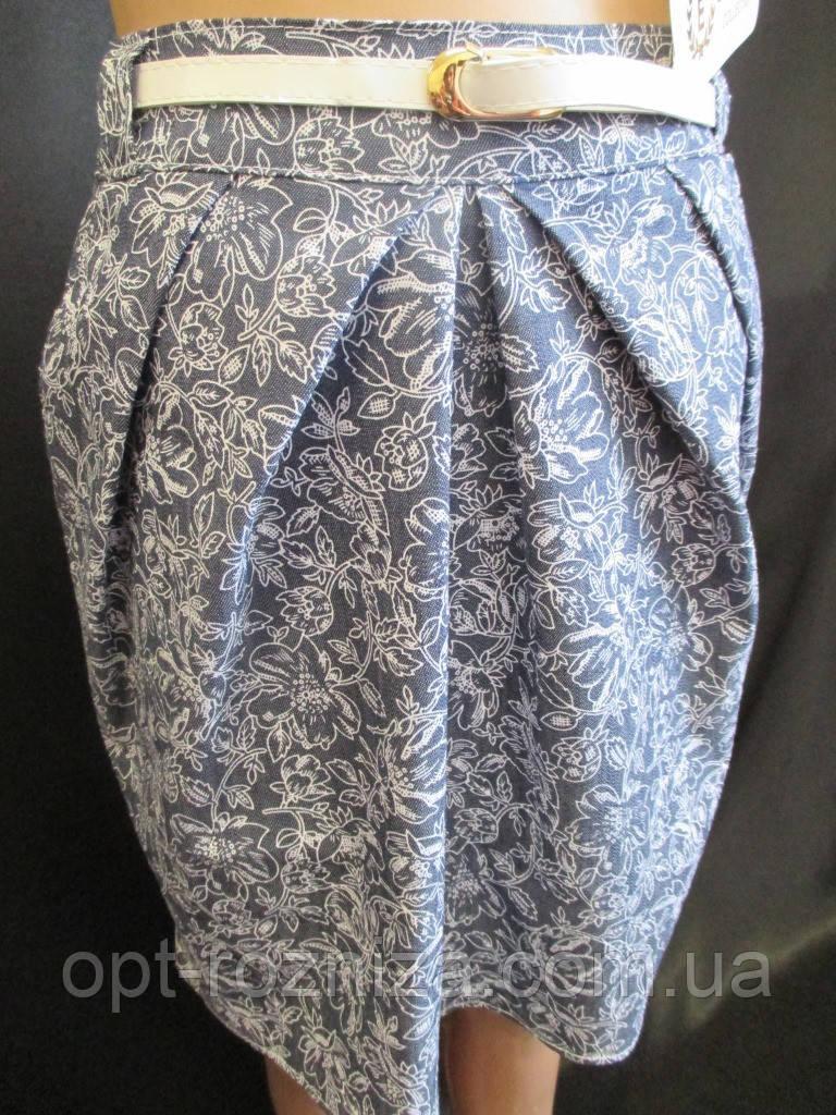 Прямые юбки для девочек с карманами.