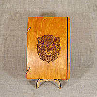 Блокнот А6. Скетчбук. Блокнот с деревянной обложкой. Блокнот в деревянном переплете. Деревянный блокнот, фото 1