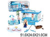 Кукла F PT1040 (1701278) (12шт) свет-муз, Анна и Эльза в наборе, Олаф, мебель, лодка…,кор13*5*32см