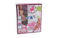 Лялька 68084 (36шт/2) стілець,стільці, парасольку, в кор.32,5*27*8 см