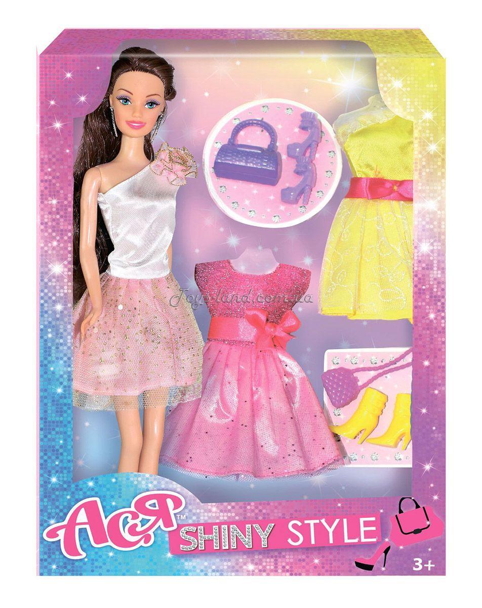 Купить Кукла Ася Блестящий стиль; 28 см; брюнетка; вариант 2